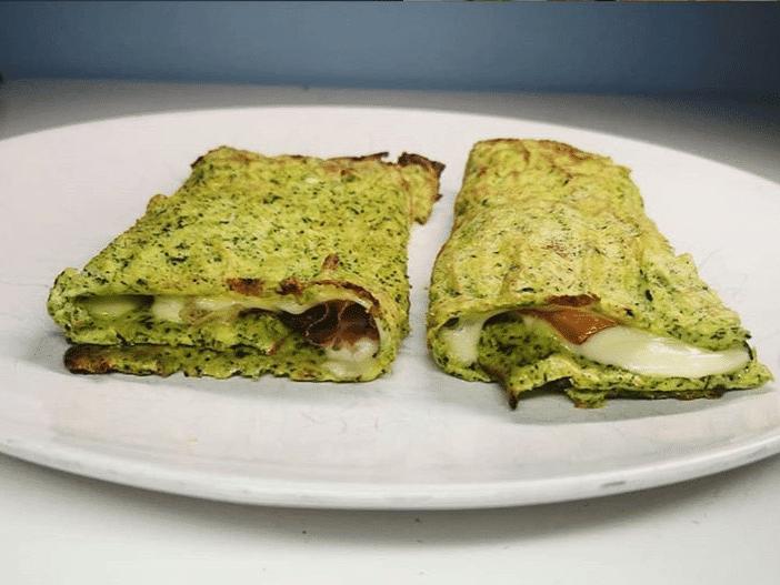 Tortilla de espinacas saludable. Ejemplo de receta saludable